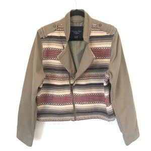 American Eagle XL Olive Green Aztec Woven Jacket